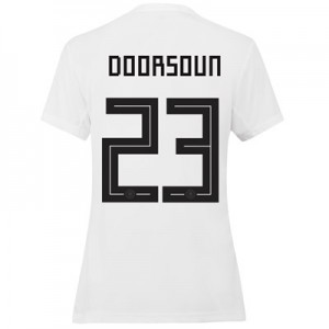 Germany Home Shirt 2019 - Womens with Doorsoun 23 printing