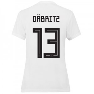 Germany Home Shirt 2019 - Womens with Däbritz 13 printing