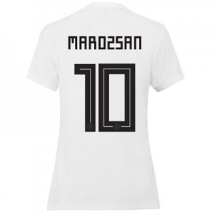 Germany Home Shirt 2019 - Womens with Marozsan 10 printing