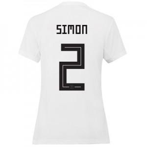 Germany Home Shirt 2019 - Womens with Simon 2 printing