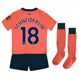 Everton Away Infant Kit 2019-20 with Schneiderlin 18 printing