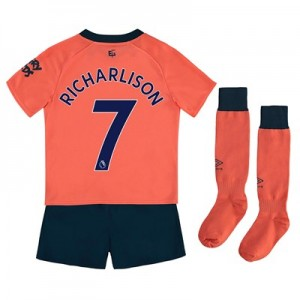 Everton Away Infant Kit 2019-20 with Richarlison 7 printing