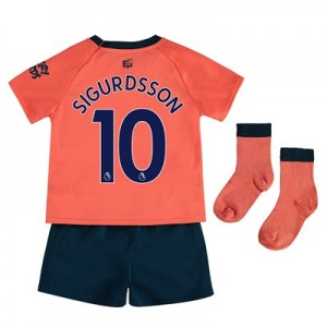 Everton Away Baby Kit 2019-20 with Sigurdsson 10 printing