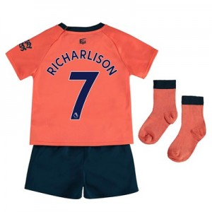 Everton Away Baby Kit 2019-20 with Richarlison 7 printing