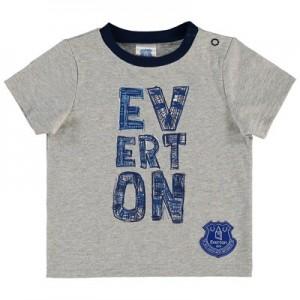 Everton Infant Split Word T Shirt - Grey Marl - Boys