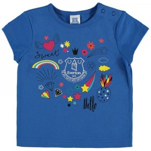 Everton Baby Random Print T Shirt - Royal - Girls