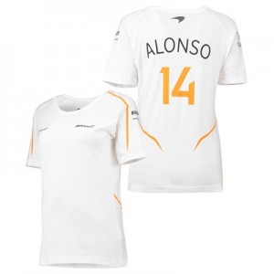 McLaren Official 2018 Fernando Alonso T-Shirt - Womens