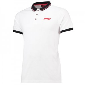 Formula 1 Essentials Small Logo Pique Polo - White