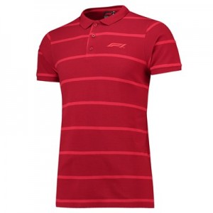 Formula 1 Essentials Hooped Pique Polo