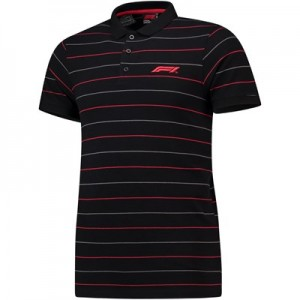 Formula 1 Essentials Pinstripe Pique Polo