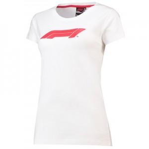 Formula 1 Essentials Logo Slouch Neck T-Shirt - White - Womens