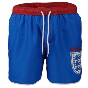 England Large Crest Swim Shorts - Blue - Mens