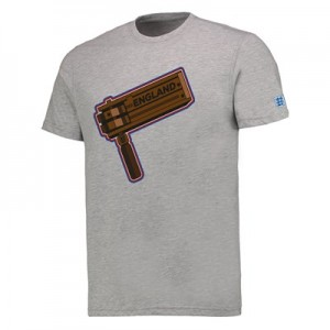 England Graphic Rattle T-Shirt - Grey Marl - Mens