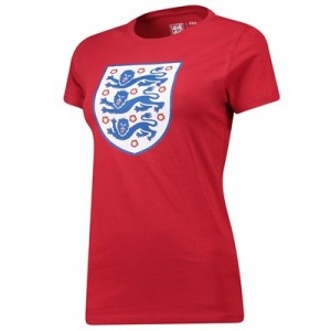England Large Crest T-Shirt - Red - Womens