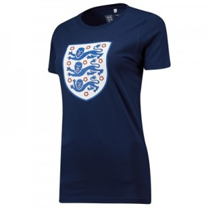 England Large Crest T-Shirt - Navy - Womens