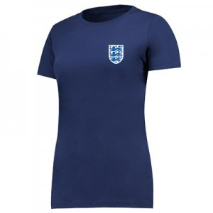 England Small Crest T-Shirt - Navy - Womens