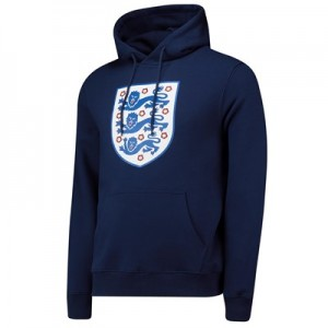 England Large Crest Hoodie - Navy - Mens