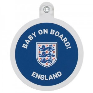 England Baby On Board Car Sign