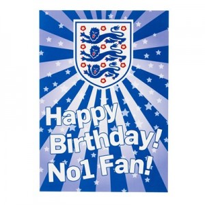 England Happy Birthday No.1 Fan card