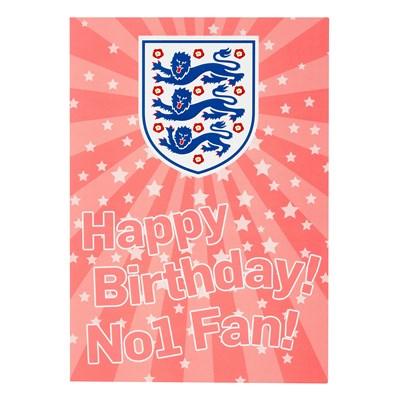 England Happy Birthday Card - Pink