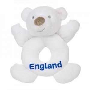England Rattle Bear - White