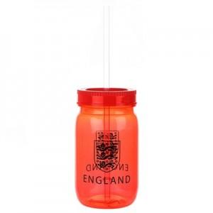 England Jive Mason Jar Beaker - Red