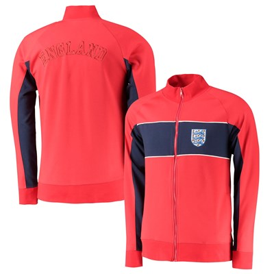 England Cut & Sew Track Jacket - Red - Mens