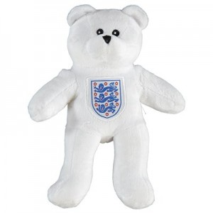 England Crest Mini Bear - White
