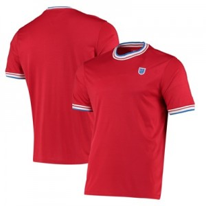 England Ringer T Shirt - Red - Mens