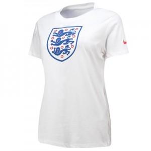 England Evergreen Crest T-Shirt - White - Womens