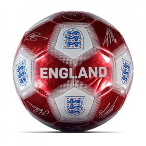 England Metallic Signature Ball - Red/White - Size 1