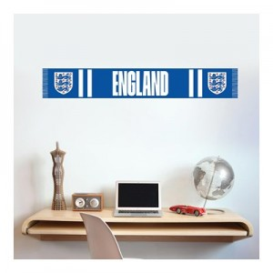 England Scarf Wall Sticker 120x30cm