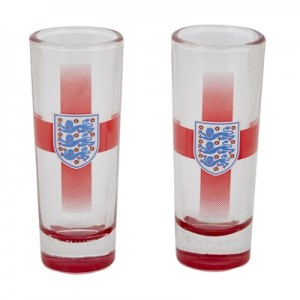England 2 Pack Shot Glass