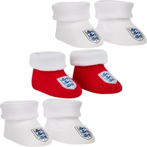 England Booties - White/red - Infant