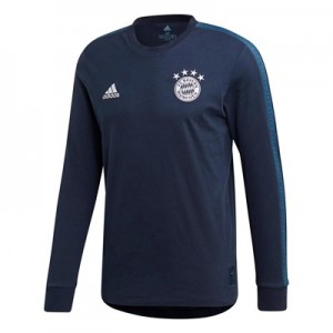 FC Bayern Seasonal Long Sleeve Tee - Navy
