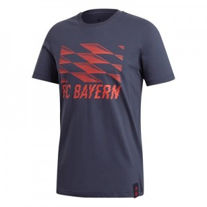 FC Bayern DNA Graphic Tee - Red
