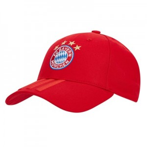 FC Bayern 3 Stripes Cap - Red