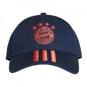 FC Bayern 3 Stripes Cap - Navy