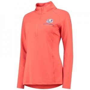 The 2018 Ryder Cup Peter Millar Hannah Solid Strech Half-Zip Pullover - Womens - Lobster