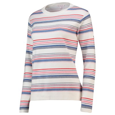 The 2018 Ryder Cup Peter Millar Julia Summer Stripe Crew Sweater - Womens - White/Multi