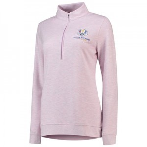 The 2018 Ryder Cup Peter Millar Melange Interlock Plaited Pullover - Womens - Luna