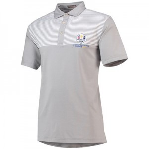 The 2018 Ryder Cup Peter Millar Oberlin Engineered Stripe Stretch Jersey Polo - Shadow