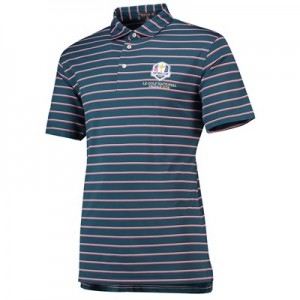 The 2018 Ryder Cup Peter Millar Scattered Stripe Stretch Mesh Polo - Maui