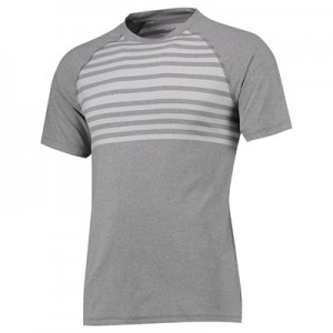The 2018 Ryder Cup Peter Millar Rio Engineered Stripe Technical T-Shirt - Smoke