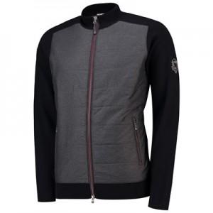 The 2018 Ryder Cup Peter Millar Full Zip Melange Hybrid Sweater Jacket - Black