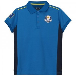 The 2018 Ryder Cup European Fanwear Pique Polo - Junior - Royal