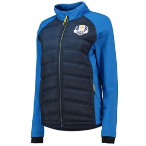 The 2018 Ryder Cup European Fanwear Padded Hybrid Jacket - Womens - Navy/Royal