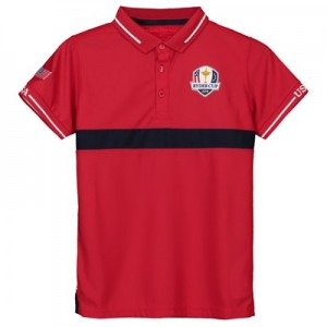 The 2018 Ryder Cup USA Fanwear Cut & Sew Polo - Junior - Red