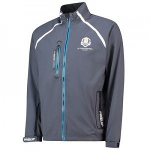 The 2018 Ryder Cup ProQuip PX5 stormFORCE Waterproof Jacket - Storm Grey/Blue