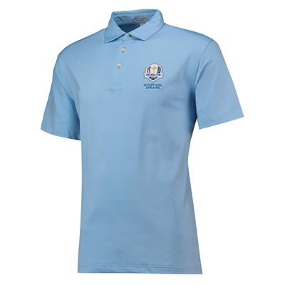 The 2020 Ryder Cup Peter Millar Solid Performance Polo - Cottage Blue